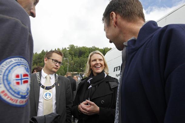 Stjørdalsordfører Ivar Vigdenes og landbruks- og matminister var enige om at Agrisjå er en viktig møteplass for landbruket.