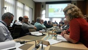 Frå WTO-møtet i Geneve. Kristin Ianssen til høgre.