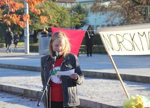 Hedda Østgaard fra LAG holdt appell