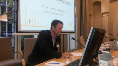 Lars Petter Bartnes på høyring i Finanskomiteen