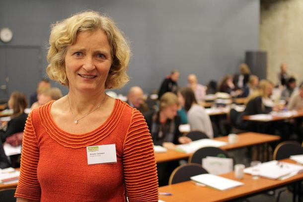 Kristin Ianssen, første nestleder i Norges Bondelag deltok i debatt under konferansen om familielandbruket.