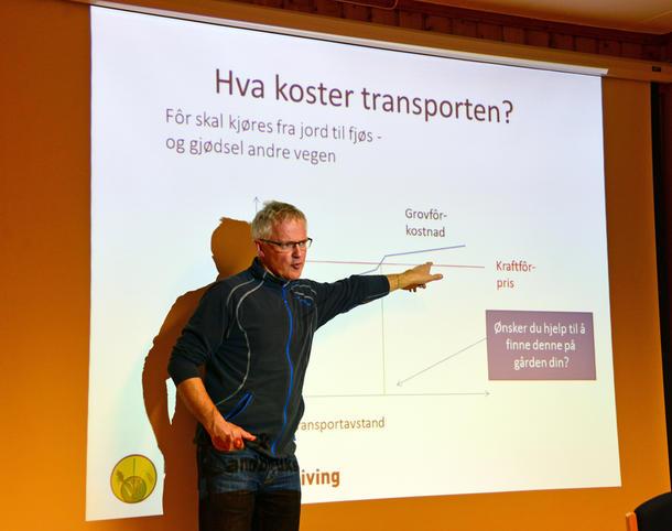 MYE INFO: Per Helge Haugdal, økonomirådgiver Namdal Landbruksrådgivning hadde mye å informere om.