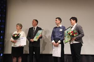 Frå venste: Janne Sundal Aardal, Kåre Aardal, Ragnvald Søgnesand og Hilde Søgnesand.