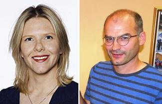 Landbruks- og matminister Sylvi Listhaug og organisasjonssjef i M&R Bondelag, Arnar Lyche.