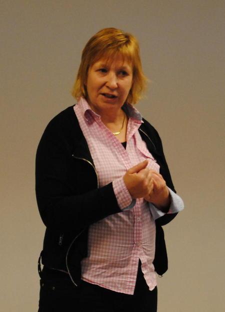 Grete Liv Olaussen på ledermøtet i dag