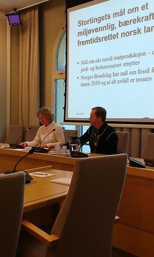 Kristin Ianssen og Finn Erlend Ødegård på høring i Stortingets energi- og miljøkomite.