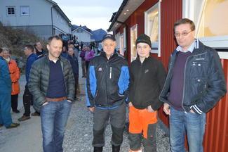 F.v: Tor Lie, Steffen Nordang, Claus Oskar Teigen og Olger Teigen.