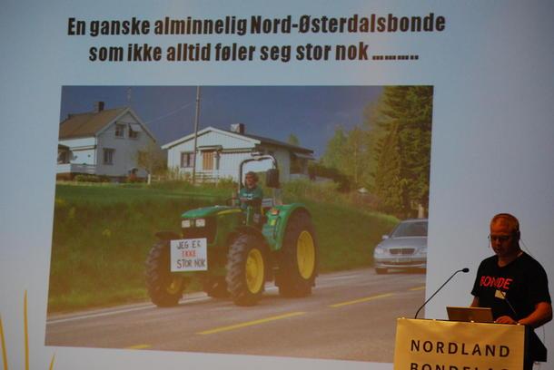 Geir Lohn på fylkesmøtet for Hedmark og Nordland