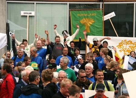 Hordalandsbøndene demonstrerar i Oslo