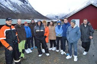 Fra venstre: Svein Arne Øye, Jetmund Øye, Atle Frantzen, Per Eldar Nakken, Arne Rekkedal, Anne Katrine Jensen, Gunnhild Overvoll, Rose Bergslid, Inge Martin Karlsvik, Arnar Lyche og Odd Helge Gangstad.