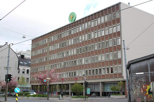 Dette bygget, Schweigaards gate 34 C, er blant de seks byggene som inngår i utviklingsavtalen for et nytt landbruksvkartal.