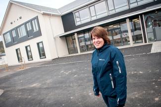 BASE PÅ SNÅSA: Her på Snåsa har Marita Holte sitt kontor, men hun er ofte på farten for å rådgi bønder over hele Trøndelag.