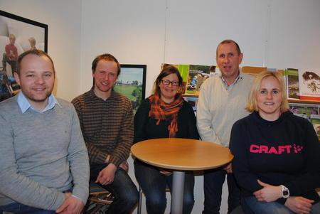 Valgkomiteen i Oppland Bondelag: f.v. Anders Hole Fyksen, Gjermund Lyshaug, Kristina Hegge, Stein Rønjus Hålien og Anne Evensen Torsgård