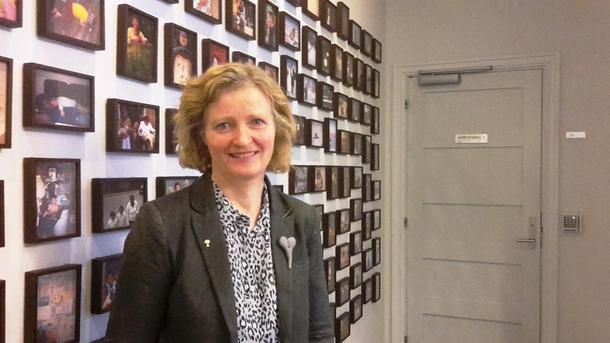 Kristin Ianssen før dagens høring i Stortinget.