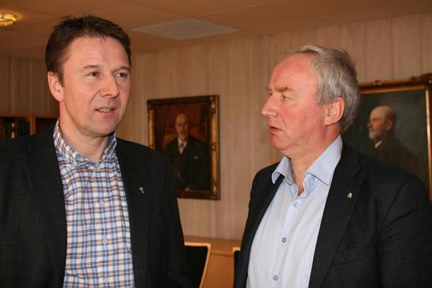 Leder i Norges Bondelag. Lars Petter Bartnes og styreleder i Nortura, Sveinung Svebestad.