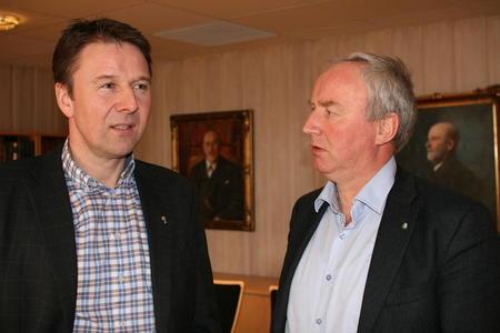 Lars Petter Bartnes og styreleder i Nortura, Sveinung Svebestad