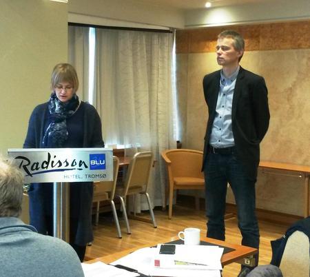 Synnøve Lode og Kjetil Helstad fra Troms Fylkeskommune