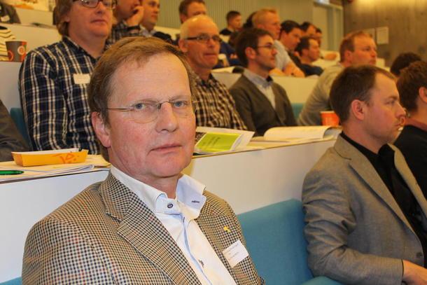 Gustav Thorsø Mohr fremmet resolusjonen om grågås. Han har selv 300 - 500 gjess daglig på sine jorder nå om våren.