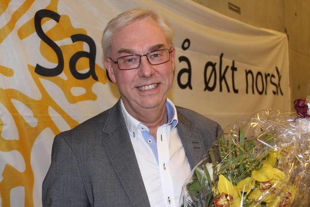 Kai Fjeld ved Nortura Hærland mottok Østfold Bondelags innsatspris.