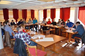 Fra møtet om uttale jordbruksforhandlingene 11. mars 2015 på Skarstua ved Molde.