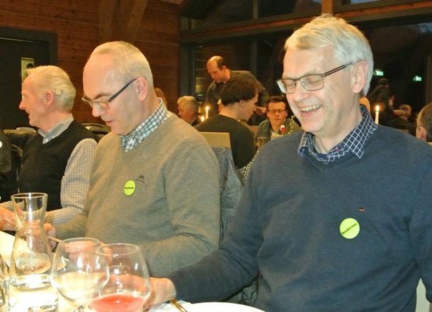 Karsten Valland og Ole Andreas Smette frå Innovasjon Norge