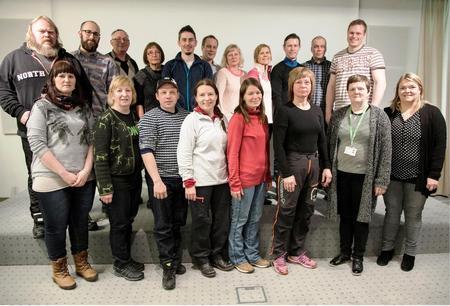 Gruppebilde av Finnmarksbøndene på tur til Island