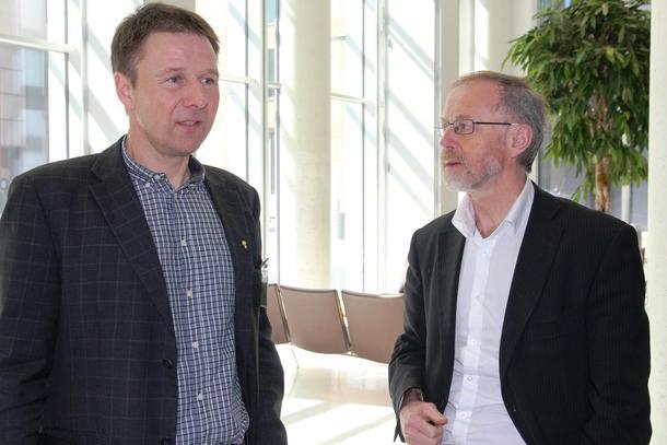 Lars Petter Bartnes og Leif Forsell leiar jordbruksforhandlingane for høvesvis landbruket og staten.
