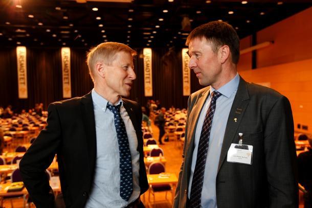 Generalsekretær Per Skorge og leder Lars Petter Bartnes i Norges Bondelag