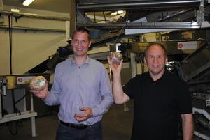 Mikkel Bakkegard og Johannes Dyste, begge kålrotprodusenter og eiere av Toten Kålrotpakkeri AS