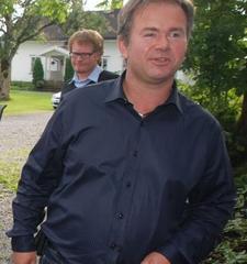 Inn på tunet-bonde Øistein Skullerud på Sand gård i Enebakk.