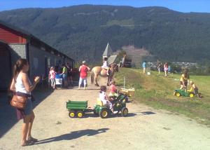 Både hest og traktor må i sving når det er Open Gard