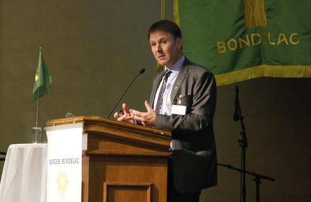 Leder i Norges Bondelag, Lars Petter Bartnes.  Foto: Ove Magne Ribsskog