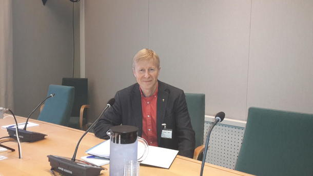 Per Skorge under høring i Næringskomiteen på Stortinget.