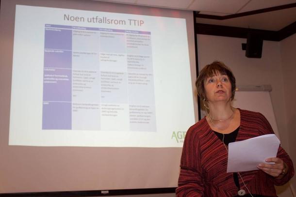 Margaret Eide Hillestad la fram Agri Analyse sin rapport om TTIP