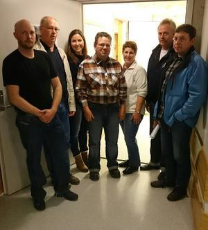 NYTT STYRE: Sindre Aasen, Steinar Hundvebakke Monika Igland Frøystad, Oddgeir Kvamsås, Karin A. Øverli grøneng, Svein Erik Hafstad og 1.vara Bjarne Ness.
