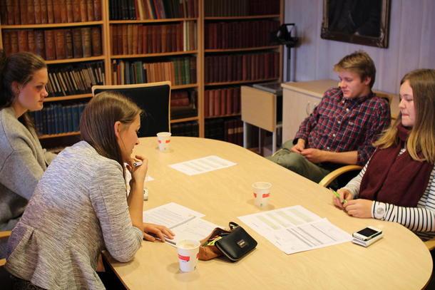WORKSHOP: Elevene diskuterer innspill til Bondelagets vårkampanje
