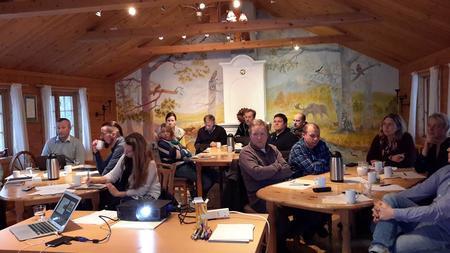 Deltagere på ledermøte i Finnmark Bondelag