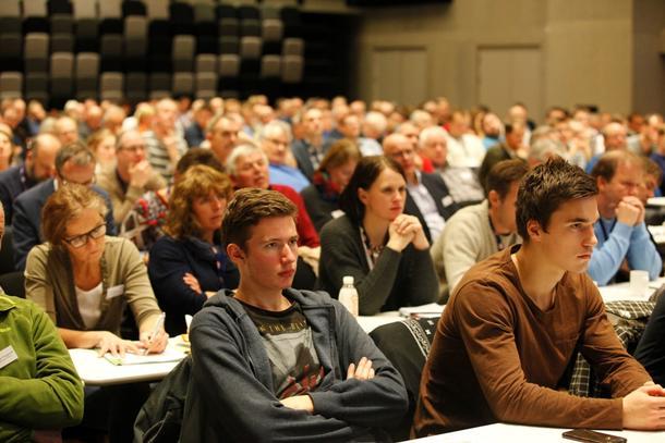 Det var en lydhør interessert forsamling som fulgte landbruksdebatten under Levende landbruk.