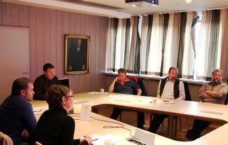 Fra venstre: Astrid Simengård, Pål Kristian Ormstad og Lars Petter Bartnes fra Norges Bondelag, Ingebrigt Henden, Halsa, Arne Andreassen, Vestnes og Helge Øverås, Vestnes.