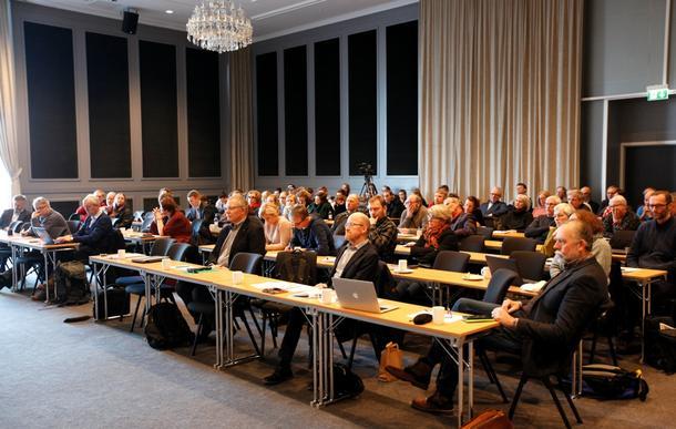 Møtet og landbruk og klima samlet mange interesserte i Stjørdal fredag.