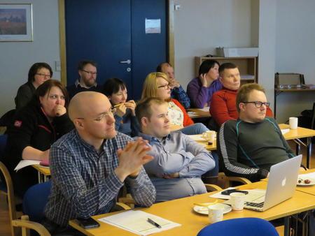 En del av årsmøtedeltagerne
