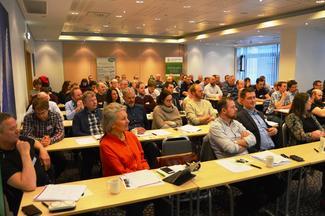Bondelagsårsmøtet laurdag samla 75 utsendingar og gjestar (Foto: Arild Erlie).