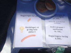Gausdal Bondelag serverte Listhaugsnabb under jordbruksforhandlingene i fjor.