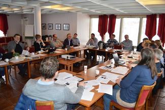 Fra møtet om uttale jordbruksforhandlingene 1. mars 2016 på Skarstua ved Molde