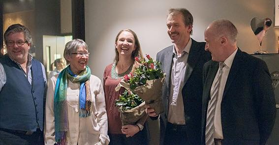Bamble Bondelag vant igjen.  Her flankert av fylkesleder Aslak Snarteland og org.sjef Jan Thorsen.