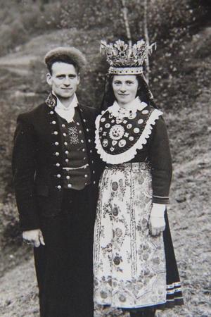 BRYLLAUP: 12.oktober 1942 gifta Magnus Grimset seg med Karolina Helgås.