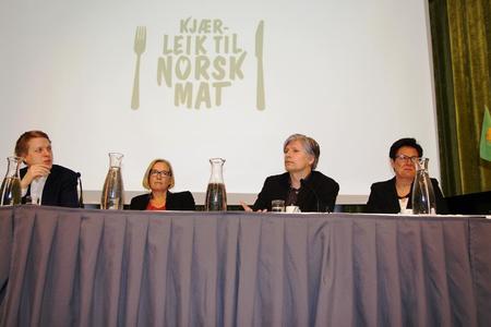 Åsmund Aukrust, Marit Arnstad, Ola Elvestuen og Ingunn Foss i debatt