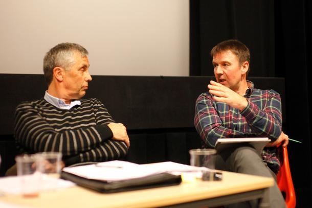 Ordfører Bjørn Iversen i Verdal møtte til debatt med blant andre bondelagsleder Lars Petter Bartnes.