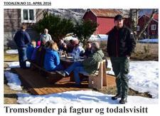 Omtale fra besøket på Kårvatn i Todalen.no 11. april - klikk her