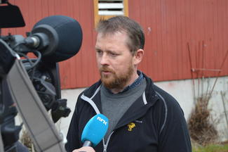 Fylkesleder i M&R BOndelag, Oddvar Mikkelsen, intervjues av NRK Møre og Romsdal